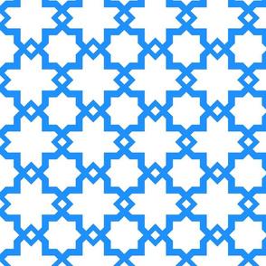 Kasbah White-Tanger Blue