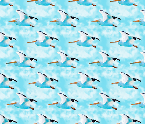 Pelicans by 2 fabric by lauriekentdesigns on Spoonflower - custom fabric