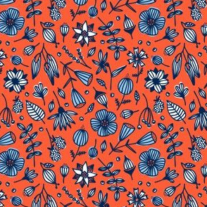 wild flora // red orange // in bloom collection