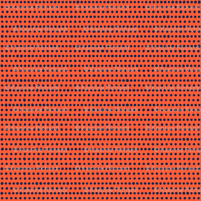 dot by dot // red orange - blue // in bloom collection