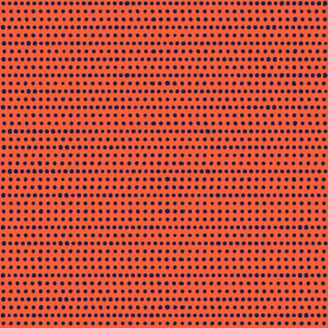 dot by dot // red orange - blue // in bloom collection fabric by modeern on Spoonflower - custom fabric