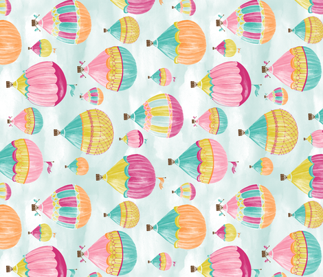 Hot Air Balloons - Rotated fabric by jillbyers on Spoonflower - custom fabric