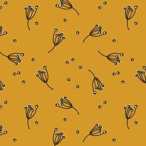 berry bits // mustard // in bloom collection