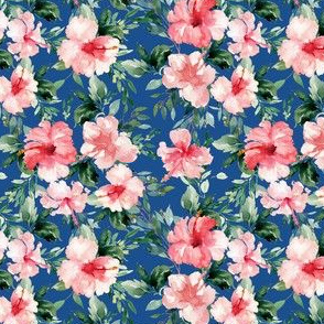 "4"" Summer Florals - Bright Blue"