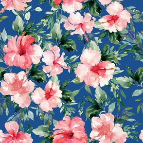 "8"" Summer Florals - Bright Blue"