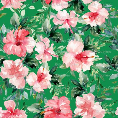 "4"" Summer Florals - Bright Green"