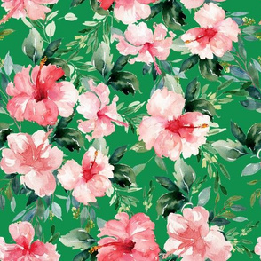 "10.5"" Summer Florals - Bright Green"