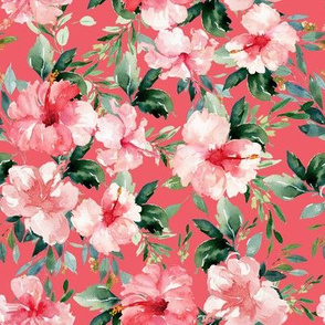 "8"" Summer Florals - Dark Coral"