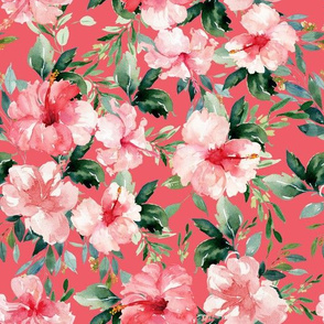 "10.5"" Summer Florals - Dark Coral"