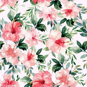 "8"" Summer Florals - Light Blush Pink"