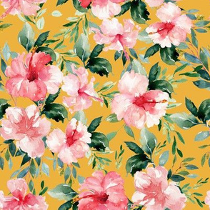 "8"" Summer Florals - Mustard"