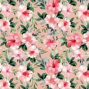 "4"" Summer Florals - Muted Peach"