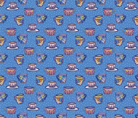 TEACUPS fabric by michelepayne on Spoonflower - custom fabric