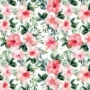 "4"" Summer Florals - White"