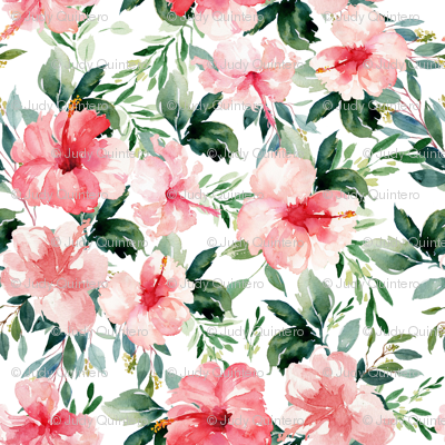 "8"" Summer Florals - White"