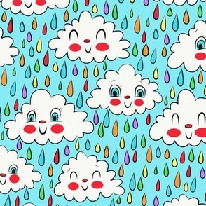 Happy Clouds (blue)