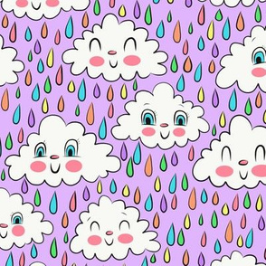 Happy Clouds (purple)