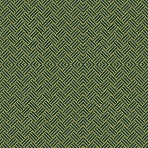 Basket Weave Olive and Blue