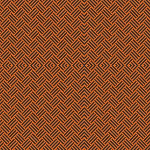 Basket Weave Orange and Blue