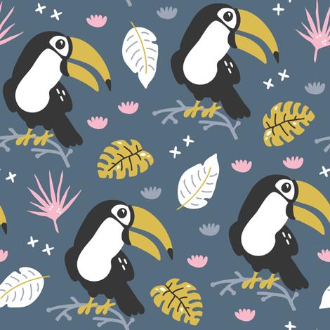 toucan_party fabric by yuliia_studzinska on Spoonflower - custom fabric