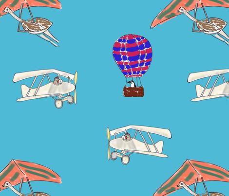 birds in flight fabric by cherieberie on Spoonflower - custom fabric