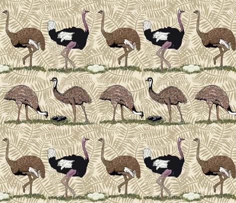 flightless birds large fabric by leroyj on Spoonflower - custom fabric