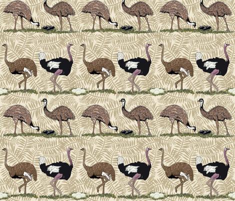 flightless birds medium fabric by leroyj on Spoonflower - custom fabric