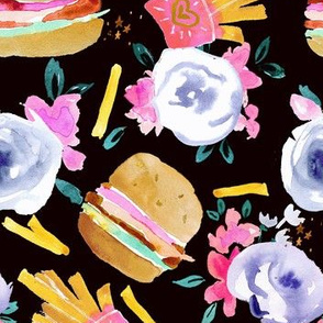 burgers and flowers-black