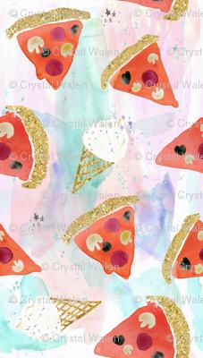pizza + ice cream