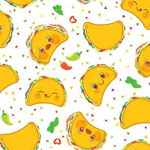 Taco Pattern - Larger Print