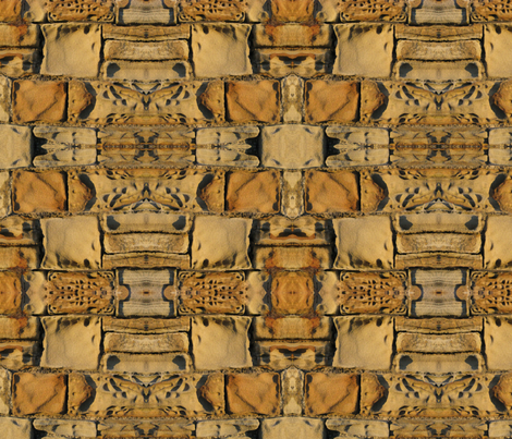 Eroded sandstone wall fabric by fabric_and_paper on Spoonflower - custom fabric