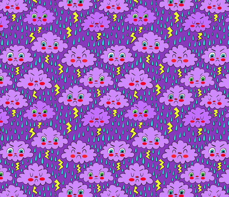 grumpy storm cloud fabric by heidikenney on Spoonflower - custom fabric