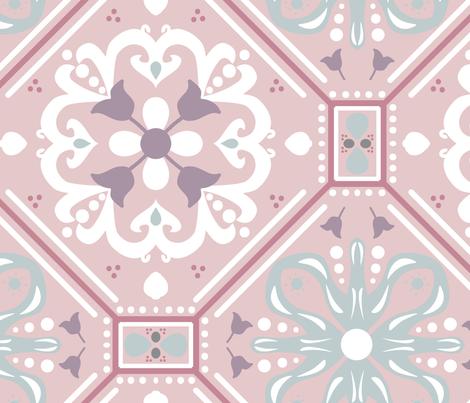 Purple Morocco Tile fabric by tiffanyaryee on Spoonflower - custom fabric
