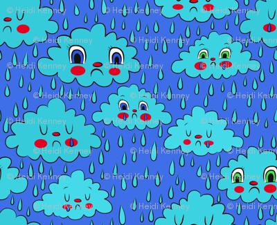 Sad rain clouds