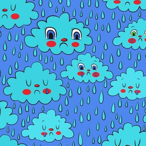 Sad rain clouds