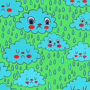 rain cloud green