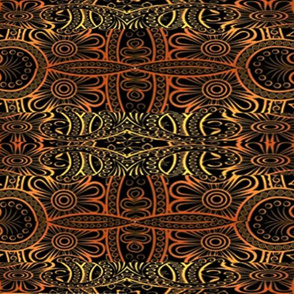 Aztec inspired design red and brown