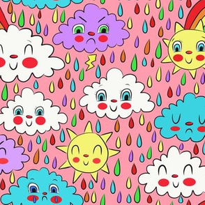 scattered showers pink