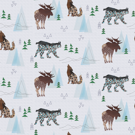 Mountain Adventures fabric by lnd_art on Spoonflower - custom fabric
