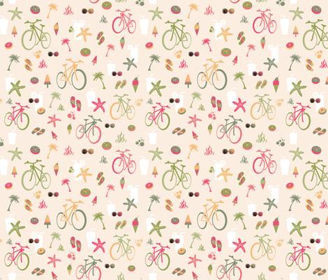 beach bikes sandy fabric by colorofmagic on Spoonflower - custom fabric