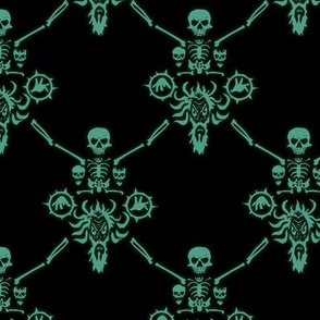 necromage spectral green damask