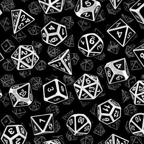 D20 Dice Set Pattern (in white)