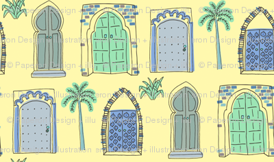 Morocco Doors Blue & Green