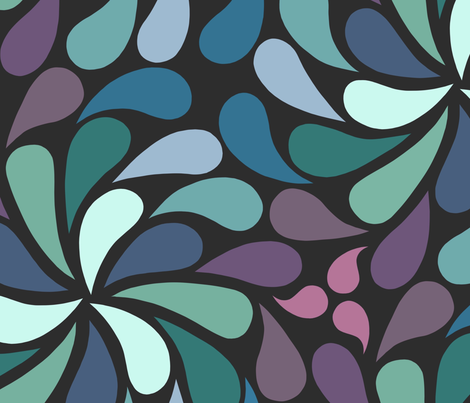 In a spin 70s XL navy purple fabric by dustydiscoball on Spoonflower - custom fabric