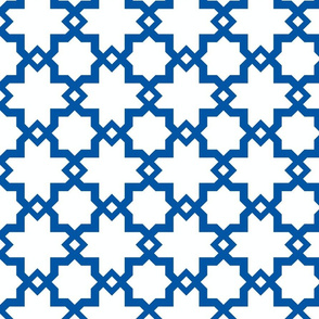 Kasbah White-Cobalt Blue