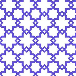 Kasbah White-Majorelle Blue