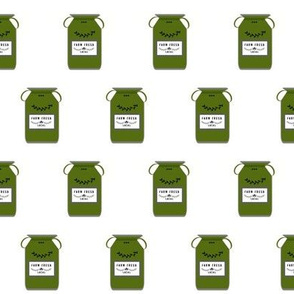 Farm Fresh jugs row - bay leaf green gray SMALL 233