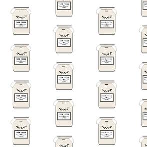 Farm Fresh jugs  LARGE 525 - creamery gray