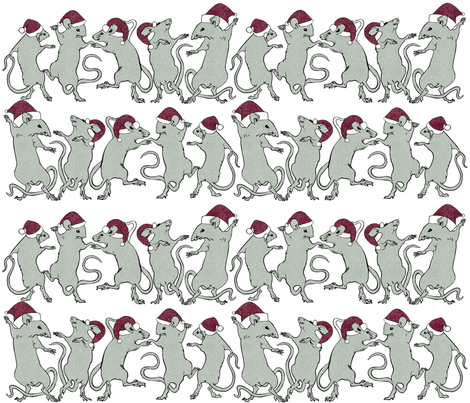 Holiday Dancing Rats fabric by jvclawrence on Spoonflower - custom fabric