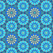 Moroccan Mozaic Pattern Blue